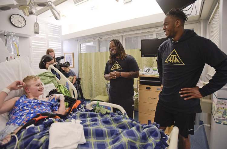 4TheAbility & NFL Visit Children's Hospital